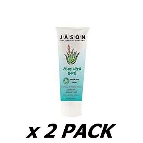 JASONS NATURAL Organic Aloe Vera 84% Hand & Body Lotion 237ml (2 Pack)