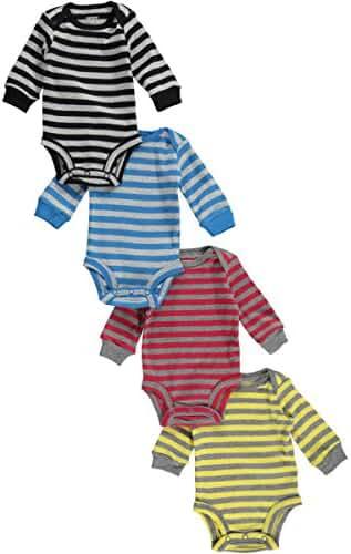Carter's Baby Boys 4-pack Long-sleeve Bodysuits (Stripes)