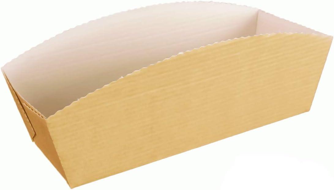220 Einwegbackformen Papierbackformen Einmal Backform Papier mit Backtrenn Funktion 215x100x35mm Verpackungslizenz in D Inkl