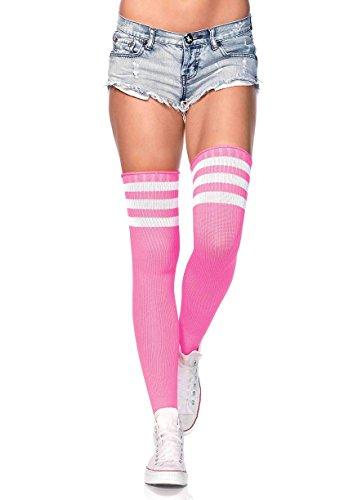 (Leg Avenue Womens Three Striped Athletic Ribbed Thigh)
