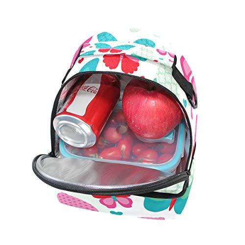hombro Alinlo diseño para almuerzo ajustable el con Bolsa mariposas correa de el para térmica OP1OXHWr
