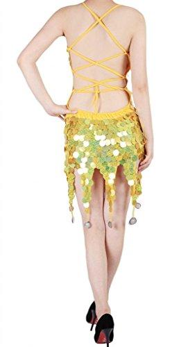 Diseño de tacón Rumba Salsa e cobre de vestidos instrucciones lentejuelas de Latin Tango para Amarillo Samba Dance Rhythm hacer AwA1xqnr