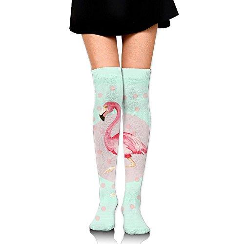 永久に導体農民フラミンゴ ストッキング サイハイソックス 3D デザイン 女性男性 秋と冬 フリーサイズ 美脚 かわいいデザイン 靴下 足元パイル ハイソックス メンズ レディース ブラック
