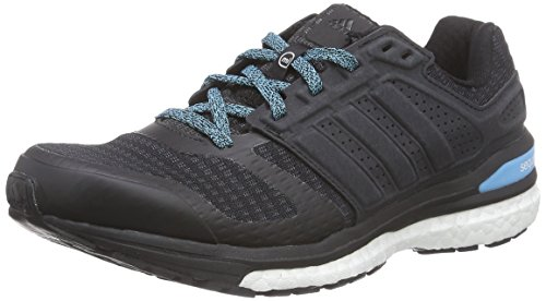 adidas Performance Supernova Sequence, Damen Laufschuhe, Schwarz (Core Black/Core Black/Bright Cyan), 42 EU (8 Damen UK)