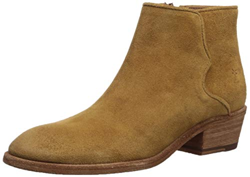 FRYE Women's Carson Piping Bootie Ankle Boot, Brandy, 8.5 M US from FRYE