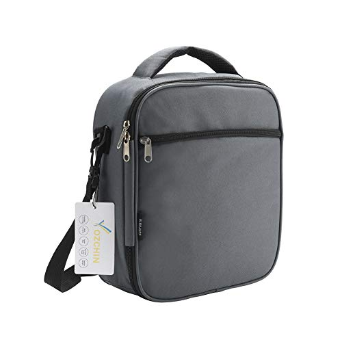 OZCHIN Insulated Lunch Bag for Men Women Soft Reusable Lunch Tote Cooler Bag Great Christmas Gift for Adults Students(Grey-G)