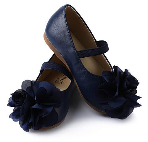 ContiKids Girls Flower Mary Jane Ballerina Flat Shoes (Toddler/Little Kid) 190 -