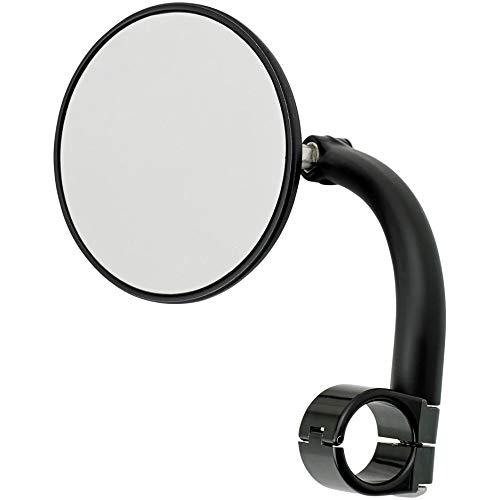 Biltwell UM-CIR-01-BK Round Bar Mount Mirror with 1'' I.D. Clamp-Black