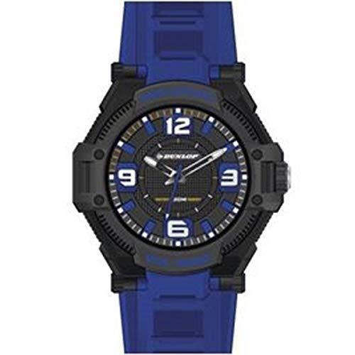 Dunlop Digital Watch Mens DUN240G03 Macho Black/Blue Stainless Steel