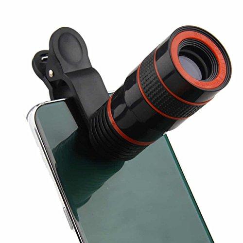 ONX3 Acer Liquid E3 / Liquid E3 Duo (Black 8x Zoom) Universal Clip-on 8x Zoom Optical Telescope Manual Focus Phone Camera Lens by ONX3® (Image #1)