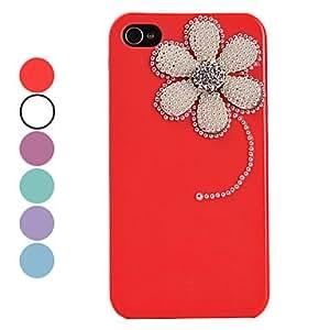 Vintage Pearl Flower Pattern Hard Case for iPhone 4/4S(Assorted Colors) --- COLOR:Beige