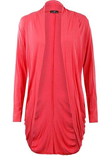 Fast Fashion Mujer Cardigan largo de jersey Coral-R