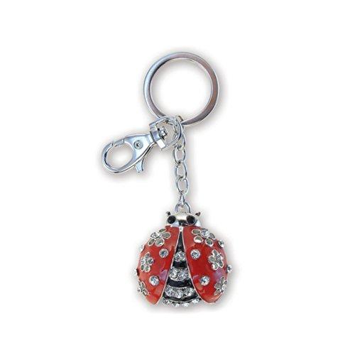 - Puzzled Ladybug Sparkling Charm Elegant Keychain