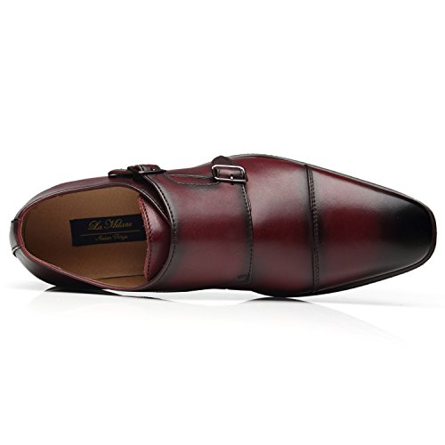 La-Milano-Mens-Double-Monk-Strap-Slip-on-Loafer-Cap-Toe-Leather-Oxford-Formal-Business-Casual-Comfortable-Dress-Shoes-for-Men