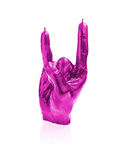 Candellana Candles N' Roll Candellana- Rock n'Roll Candle-Pink High Glossy,]()
