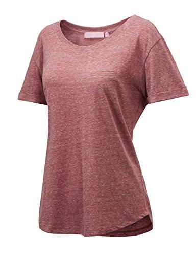 Regna X Womens Short Sleeve Lovely Summer Plus Size Active Shirt Green XXL