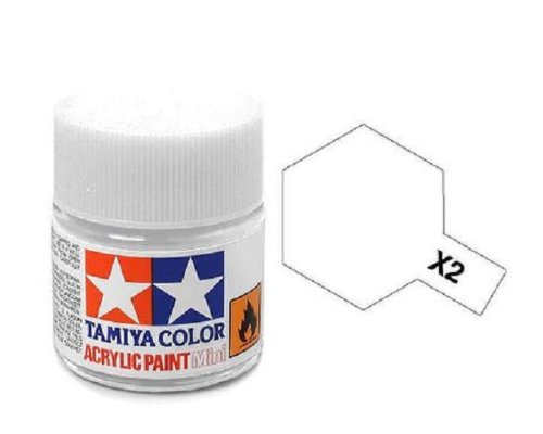 Tamiya Models X-2 Mini Acrylic Paint, White