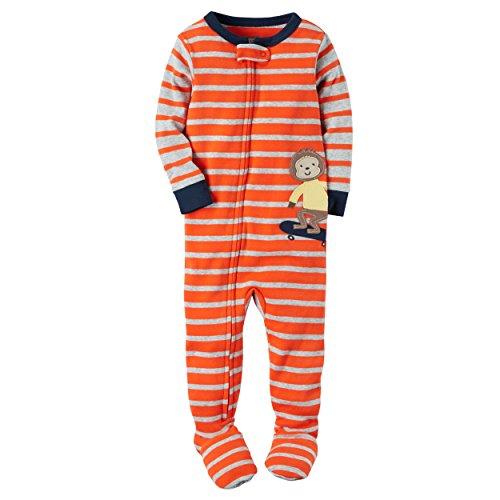 1-Piece Snug Fit Cotton PJs (24 Months, Skateboard Monkey)
