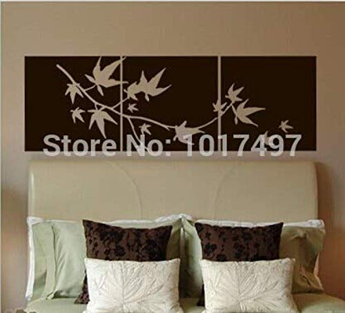 Decal Set Maple - Large Set of Japanese Maple Branch Japanese Wall Decals Decor Vinyl Sticker SK11996