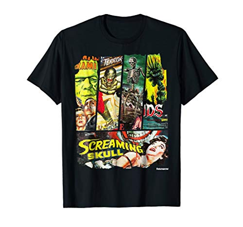 Vintage Style Sci Fi Horror Movie Poster Collage T-Shirt