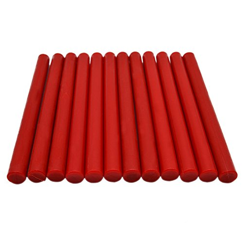 Red Glue Gun Sealing Wax Rod for Homemade Christmas Card Stamp - 12 Sticks