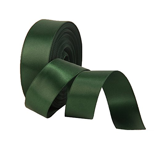 Forest Green Ribbon - Double Face Satin Ribbon 1