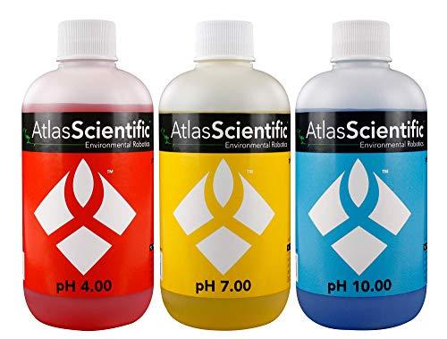 (Atlas Scientific pH 4.00, 7.00, 10.00 Calibration Solution 250ml - 8oz (Pack of 3))