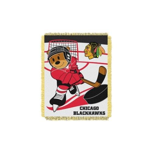 The Northwest Company Officially Licensed NHL Chicago Blackhawks Score Woven Jacquard Baby Throw Blanket, 36