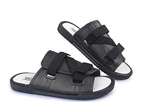Xing Lin Sandalias De Hombre Tendencia De Verano Chanclas Flip-Flops De Hombres Amantes De La Moda Zapatos Sandalias Zapatos De Hombre Cuidado De Tamaño Grande black