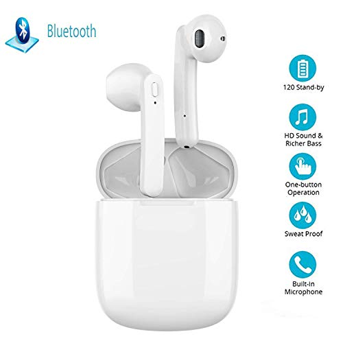 Bluetooth Earbuds Wireless Headphones with Noise Canceling, Hi-Fi Sound...