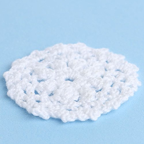 2'' White Round Cotton Hand Crocheted Lace Doilies, Set of 12 by Factory Direct Craft