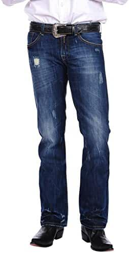 Stetson Men's Rocker Fit with Lower Rise and Slightly Fitted Thigh Jean