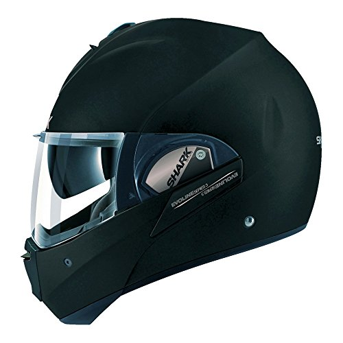 (Shark Unisex-Adult Full Face Evoline 3 Fusion Helmet (Matte Black, Medium) - HE9355DKMAM)