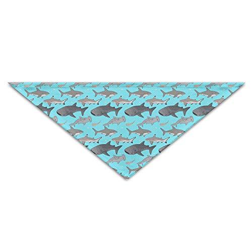 OHMYCOLOR Ocean Hammerhead Shark Fish Whale Dog Bandanas Scarves Triangle Bibs Scarfs Stylish Basic Dogs Neckerchief Cat Collars Pet Costume Accessory Kerchief Holiday Birthday Gift -