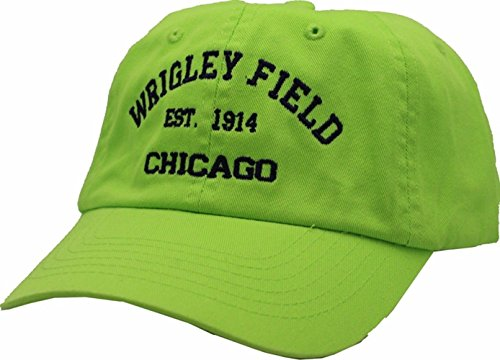Wrigley Field EST Chicago EST 1914 Hat Buckle Back Green ()