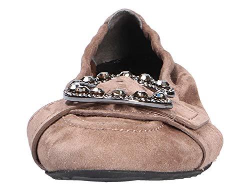 Buckle Cedar Taupe Diamante Pumps Suede Smoke Sackville Kennel Schmenger Ballet amp; q6YtRz