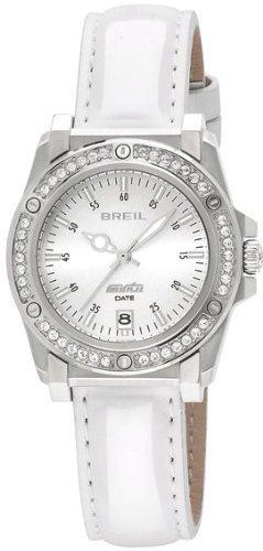 Breil TW0797 - Reloj analógico de mujer de cuarzo con correa de piel blanca