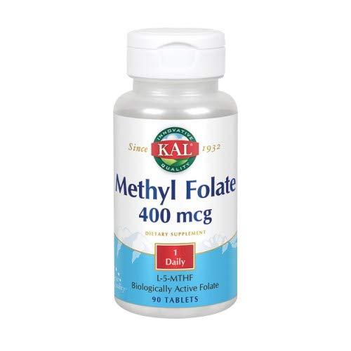 - Kal 400 Mcg Methyl Folate Tablets, 90 Count