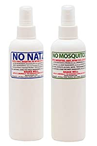 No Natz and No Mosquitoz Insect & Bug Protection 8 oz. Spray - Combo Pack