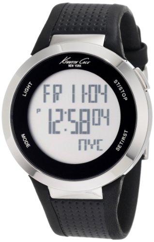 Kenneth Cole New York Unisex KC1697 Digital Silver Screen Dial Watch