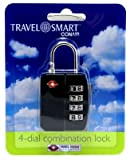 Travel Smart by Conair TS396TS Travel Sentry® 4 Dial Combination Lock