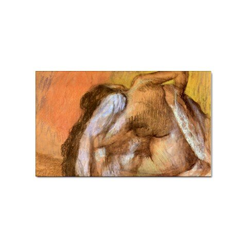 Seated Female Nude Drying Neck and Back By Edgar Degas Magnet