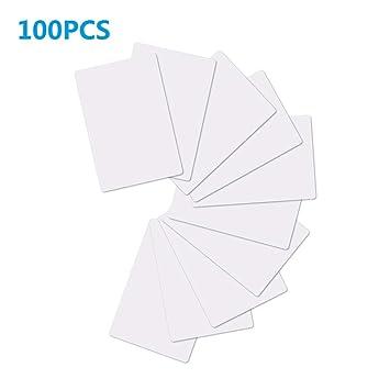 TimesKey NFC Tags NTAG215 Tarjetas NFC Etiquetas, 504 Bytes Memoria, NXP Ntag215 Chip de PVC Blanco Compatible con Amiibo TagMo NFC Cards-100 Piezas