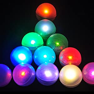 Party Decoration Fairy Light Up Glowing Pearls LED Magic Balls - Set of 12 Pcs