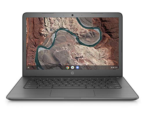 (HP Chromebook 14-inch Laptop with 180-degree Hinge, AMD Dual-Core A4-9120 Processor, 4 GB SDRAM, 32 GB eMMC Storage, Chrome OS (14-db0020nr, Chalkboard Gray) )