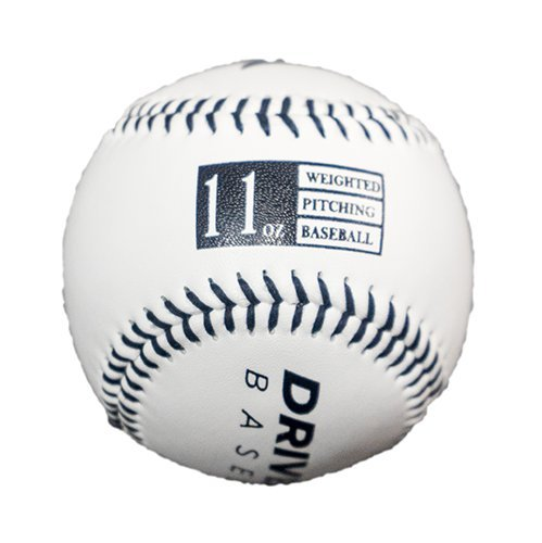 Driveline Leather Weighted Baseballs: Black, 11oz
