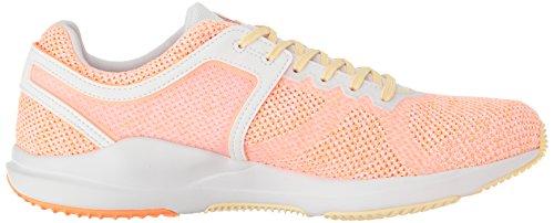 Zapatillas Adidas Mujeres Crazytrain Cf Cross-trainer Blanco / Naranja Brillante / Piel De Limón