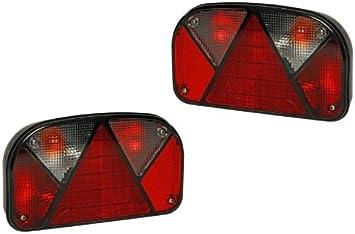 Fkanhängerteile Aspöck Multipoint 2 Lampen Set Rechts Links 13 Polig Mit Rückfahrscheinwerfer Auto
