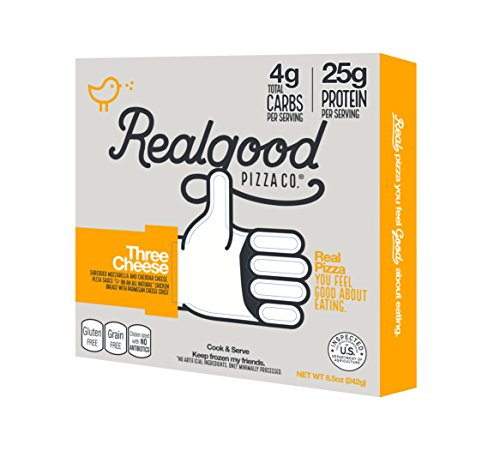 Real Good Foods, Personal 5-Inch Cheese Pizza (Pack of 6) Chicken And Pizza