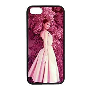 Audrey Hepburn In Red Flowers Case for iPhone for iPhone 5 5s case